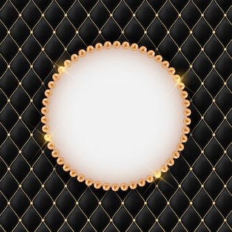 Abstract beautuful background with pearl frame.