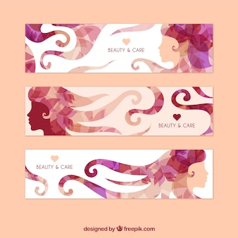 Abstract beauty banners