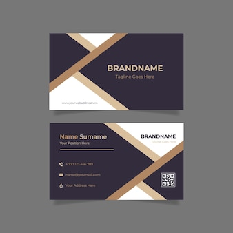 Abstract beauty business card template