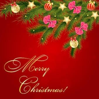 抽象的な美しさのクリスマスと新年の背景ベクトルイラスト