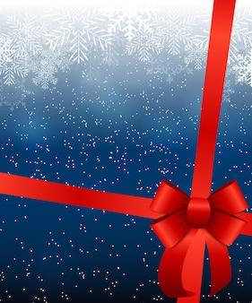 雪と雪片と抽象的な美しさのクリスマスと新年の背景。ベクトルイラストeps10