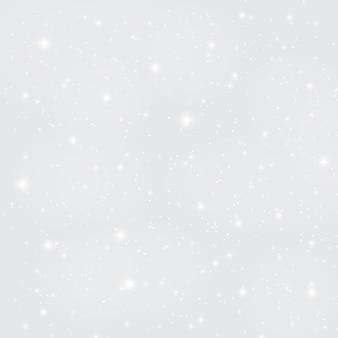 雪、雪片と抽象的な美しさのクリスマスと新年の背景。ベクトルイラスト