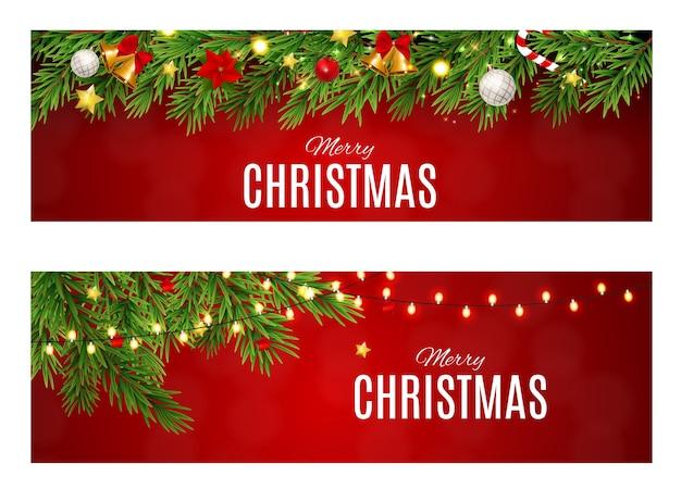 Абстрактная красота рождество и новогодний набор карт.