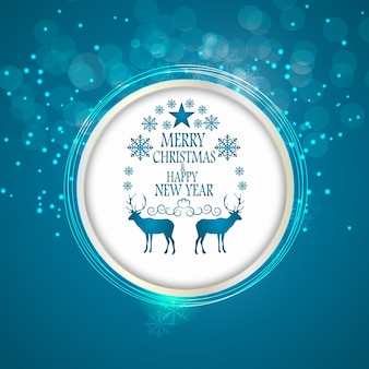 Abstract beauty christmas and new year background. vector illustration. eps10