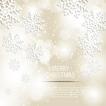Abstract beauty christmas and new year background vector illustration