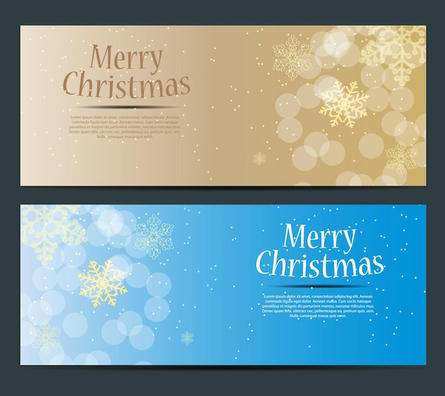 Abstract beauty christmas and new year banner vector illustration