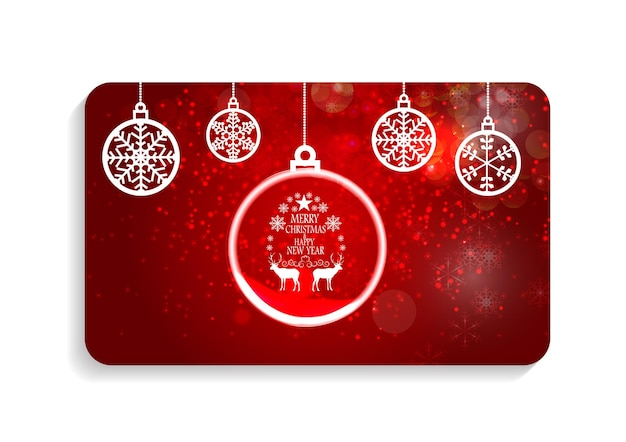 Abstract beauty christmas and new year card vector illustration. eps10