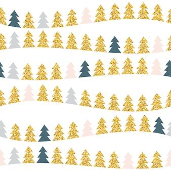 Абстрактная рождественская елка красоты и бесшовные модели. новый год b