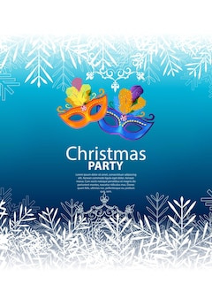 Abstract beauty merry christmas and new year party background