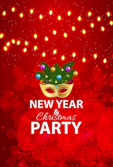 Abstract beauty merry christmas and new year party backgroundchristmas newyear