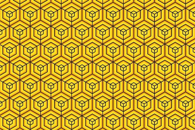 抽象的な蜂の巣の黄色と黒の背景