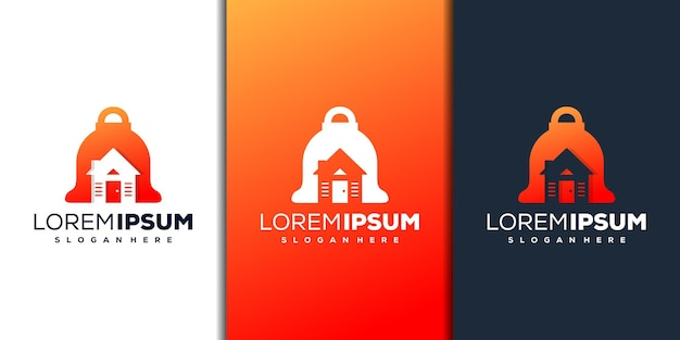 Abstract bell and house logo design