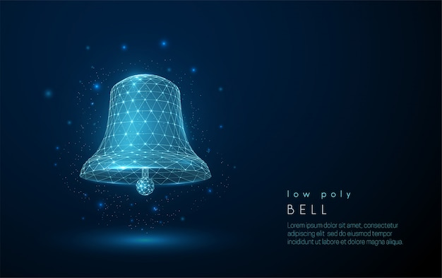 Abstract bell. low poly style design.