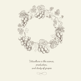 Modello astratto berry wreath vintage
