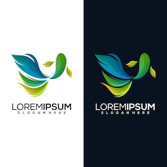 Абстрактный логотип рыбы бетта в двух версиях