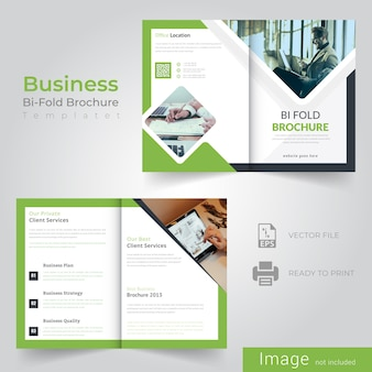 Abstract bifold brochure design