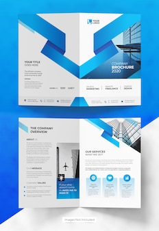 Abstract bifold brochure template design