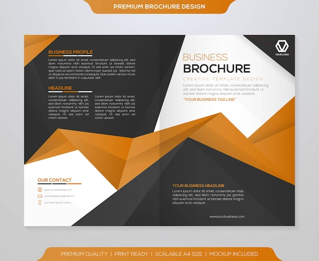 Abstract bifold brochure template  vector