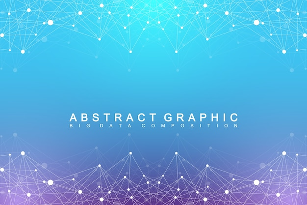 Abstract big data background