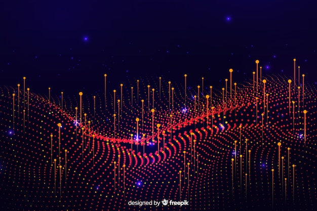Abstract big data concept shapes background