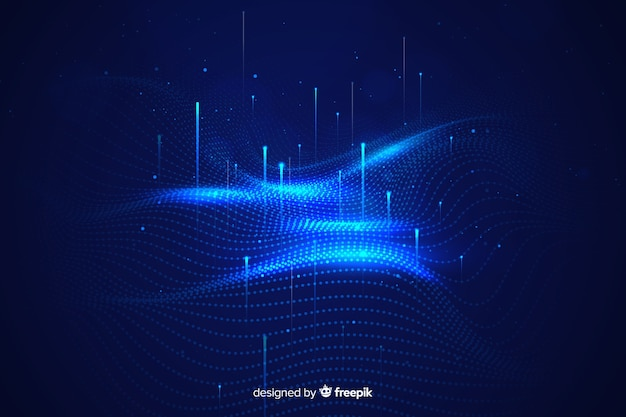 Abstract big data concept wallpaper