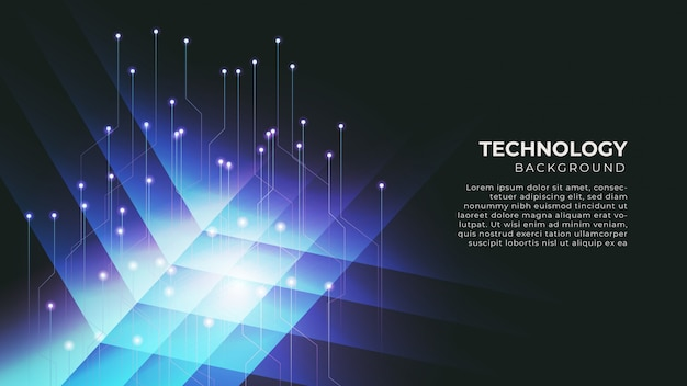 Abstract big data technology background