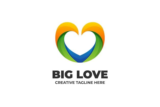 Абстрактная большая любовь бизнес логотип