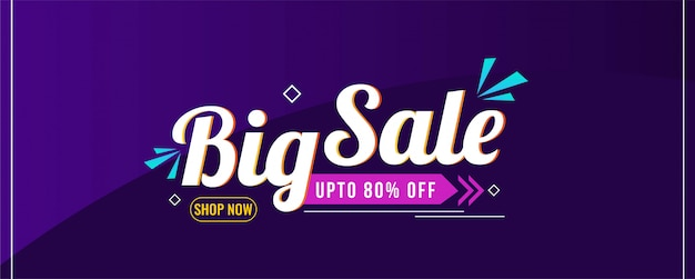 Abstract big sale modern banner template