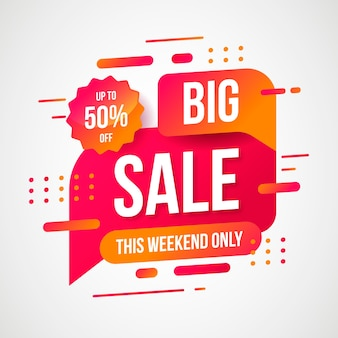 Abstract big sale promotion banner