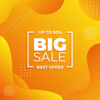 Abstract big sale yellow gradient banner