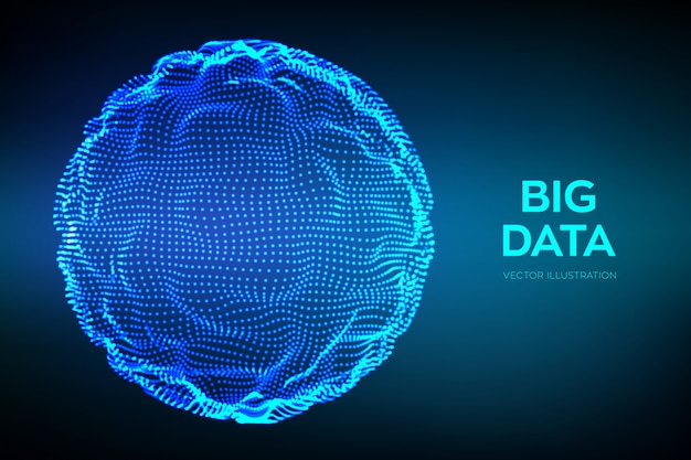 Abstract bigdata science background.