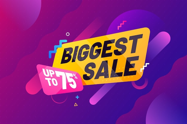 Abstract biggest sale background