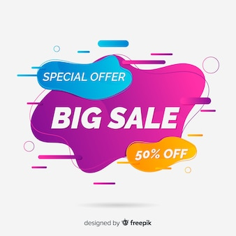 Abstract bigsale promotion banner