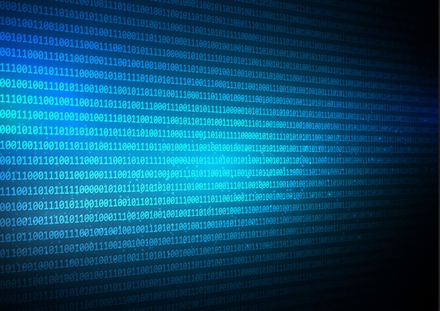Abstract binary code techno background