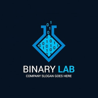 Abstract binary logo