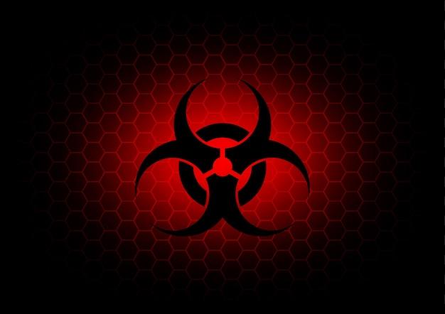 추상 생물 학적 기호 어두운 빨간색 배경