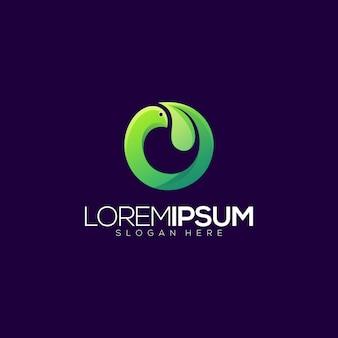 Abstract bird leaf premium logo vector