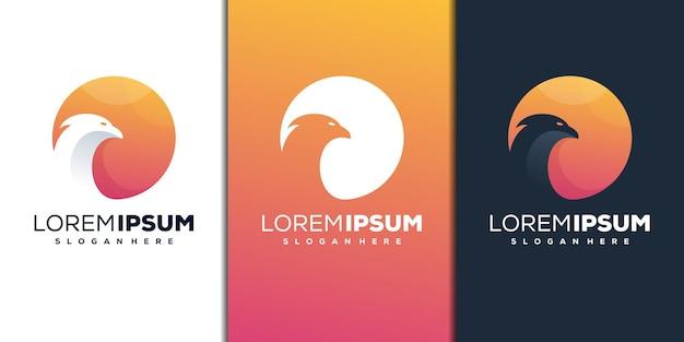 Абстрактный дизайн логотипа птицы