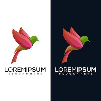 2つのバージョンで抽象的な鳥のロゴ