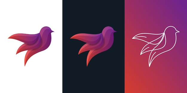 Abstract bird logo