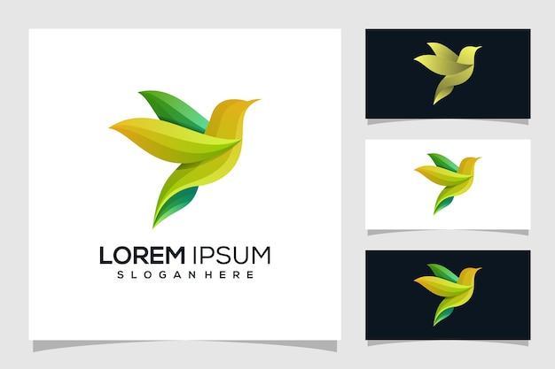 抽象的な鳥のロゴ