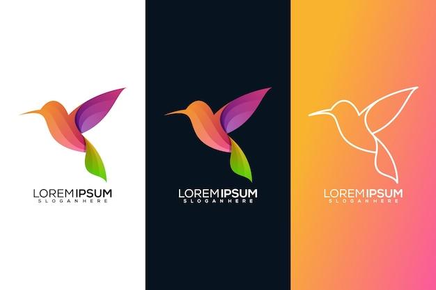 Абстрактный логотип птицы