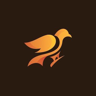 Abstract bird pigeon dove logo