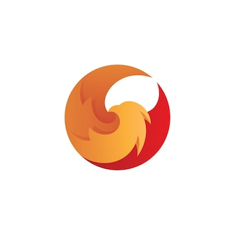 Abstract bird wing logo