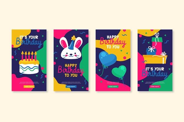 Абстрактное поздравление с днем рождения в социальных сетях