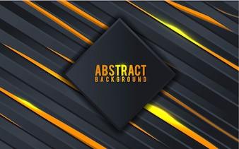 Абстрактный черный и золотой фон - Вектор
