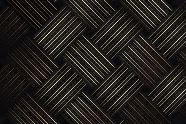 대각선이 있는 추상 검정색과 금색 배경