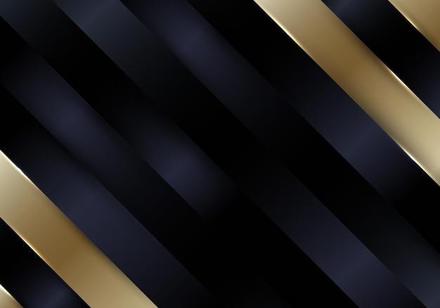 抽象的な黒と金の斜めのストライプの背景とテクスチャの豪華なスタイル。ベクトルイラスト