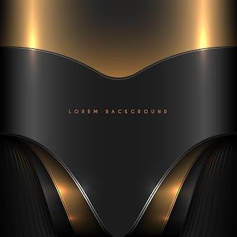抽象的な黒と金のエレガントな背景