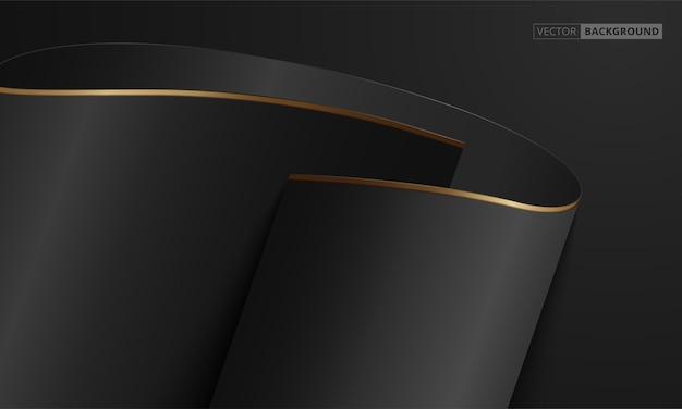 Абстрактный черный и золотой роскошный фон